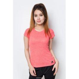 Футболка женская Adidas, цвет: розовый. B45830. Размер XS (40/42)