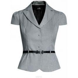 Жакет женский oodji Collection, цвет: серый, клетка. 21200181-6/46284/1229C. Размер 46-170 (52-170)