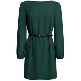 Платье oodji Ultra, цвет: темно-зеленый. 11900150-5B/32823/6900N. Размер 42 (48-170)