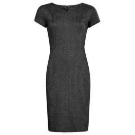 Платье oodji Ultra, цвет: черный, серый. 14011010/45950/2923J. Размер L (48)