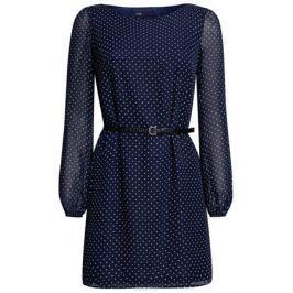 Платье oodji Ultra, цвет: темно-синий, белый. 11900150-5/13632/7912D. Размер 36 (42-170)