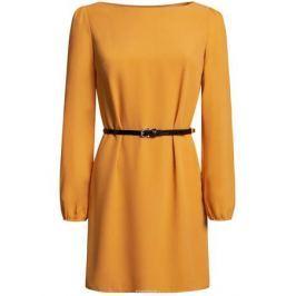 Платье oodji Ultra, цвет: охра. 11900150-5B/32823/5200N. Размер 40 (46-170)
