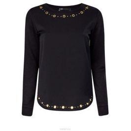 Блузка женская oodji Collection, цвет: черный. 24201014/43616/2997P. Размер XL (50)