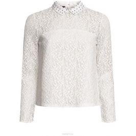Блузка женская oodji Collection, цвет: белый. 21411092-1/45967/1200N. Размер 42 (48-170)
