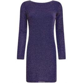 Платье oodji Ultra, цвет: синий металлик. 14000165-1/46124/7500X. Размер M (46)