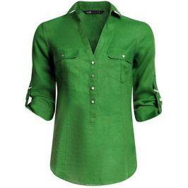 Блузка женская oodji Collection, цвет: зеленый. 21412145/42532/6E00N. Размер 40 (46-170) Женская одежда