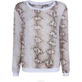 Блузка женская oodji Collection, цвет: белый, бежевый. 21400346/35202/1233A. Размер 40 (46-170)