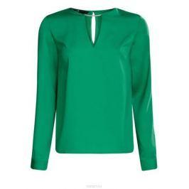 Блузка женская oodji Collection, цвет: изумрудный. 21400396/38580/6D00N. Размер 44 (50-170)