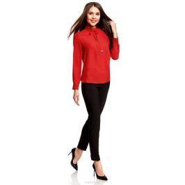 Блузка женская oodji Collection, цвет: красный. 21411094/36215/4500N. Размер 44 (50-170)