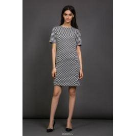 Платье La Via Estelar, цвет: черный, белый. 13982. Размер 48