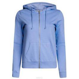 Толстовка женская oodji Ultra, цвет: голубой. 16901079-2B/46934/7500N. Размер M (46)