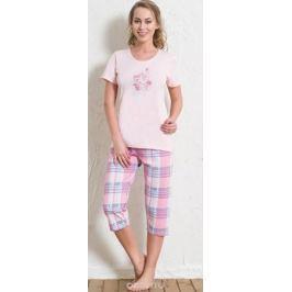 Комплект домашний женский Vienetta's Secret: футболка, капри, цвет: розовый. 512166 5519. Размер M (46)