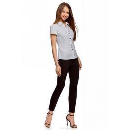 Блузка женская oodji Collection, цвет: белый, черный. 21407022-9/12836/1029D. Размер 46-170 (52-170)