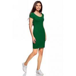 Платье oodji Collection, цвет: темно-изумрудный. 24001082-2B/47420/6E00N. Размер XXL (52)