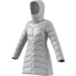 Пуховик женский Adidas W CW Nuvic JKT, цвет: серый. BS0982. Размер L (48/50)