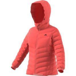Пуховик женский Adidas W CW Nuvic JKT, цвет: коралловый. BQ8758. Размер 44 (50)
