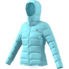 Пуховик женский Adidas W Helionic Ho J, цвет: голубой. BQ1929. Размер L (48/50)