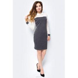 Платье женское La Via Estelar, цвет: серый, белый. 14006-2. Размер 44