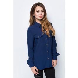 Блузка женская La Via Estelar, цвет: синий. 33951-2. Размер 52