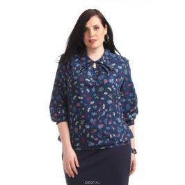 Блузка женская Averi, цвет: темно-синий. 1360_625. Размер 64 (68)