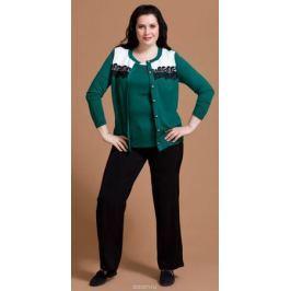 Комплект одежды женский Averi: жакет, блузка, цвет: зеленый. 1195. Размер 62 (66)