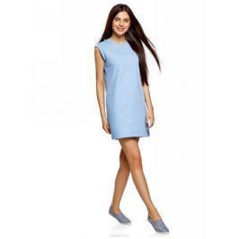 Платье oodji Ultra, цвет: голубой. 14008015-3B/47481/7001N. Размер XS (42)