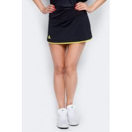 Юбка для тенниса Adidas Us Series Skirt, цвет: черный, желтый. BP5230. Размер XS (40/42)