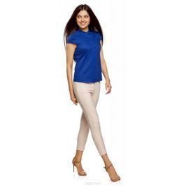 Рубашка женская oodji Ultra, цвет: синий. 11403196-3/26357/7500N. Размер 34 (40-170)