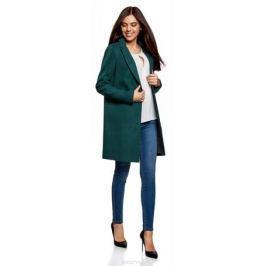 Пальто женское oodji Ultra, цвет: морская волна. 10103019/45628/6C00N. Размер 40 (46-170)