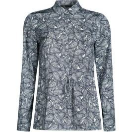Блузка женская oodji Ultra, цвет: кремовый, черный. 11411146/40032/3029E. Размер 40-170 (46-170)