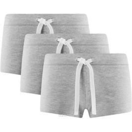 Шорты женские oodji Ultra, цвет: серый меланж, 3 шт. 17001029T3/46155/2300M. Размер S (44)
