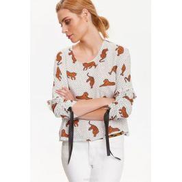 Блузка женская Top Secret, цвет: белый. SBD0746BI. Размер 40 (48)
