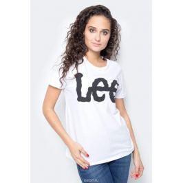 Футболка женская Lee, цвет: белый. L40LEP12. Размер XL (48)