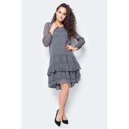 Платье Vero Moda, цвет: серый. 10185010_Asphalt. Размер S (42/44)