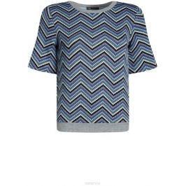 Джемпер женский oodji Collection, цвет: черный, синий. 24801010-13/46478/2975S. Размер XL (50)