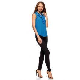 Блузка женская oodji Collection, цвет: синий. 21411108/36215/7500N. Размер 46-170 (52-170)