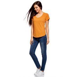 Футболка женская oodji Ultra, цвет: оранжевый. 14707004-3/45518/5500N. Размер XXS (40)