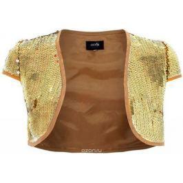 Болеро женское oodji Ultra, цвет: светло-золотой металлик. 11200200M/26386/9700X. Размер 36-170 (42-170)