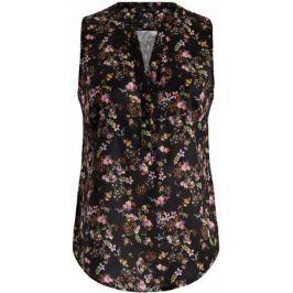 Блузка женская oodji Collection, цвет: черный, мультиколор. 21400388-3M/35542/2919F. Размер 44-170 (50-170)