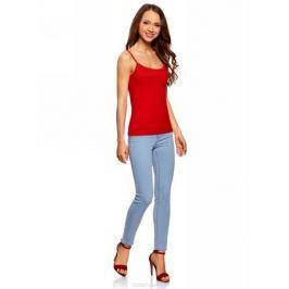 Майка женская oodji Ultra, цвет: красный. 14305023-1B/46147/4500N. Размер XXS (40)