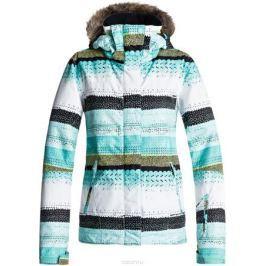 Куртка женская Roxy, цвет: бирюзовый, белый, темно-серый. ERJTJ03124-BFK7. Размер XS (40)