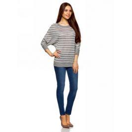 Джемпер женский oodji Collection, цвет: серый. 73805611/22191/2312S. Размер XXL (52)