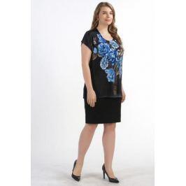 Блузка женская Pretty Women Рим букет, цвет: синий. Размер 64