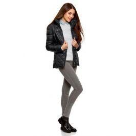 Куртка женская oodji Ultra, цвет: черный. 10203031-1/18268/2900N. Размер 38-170 (44-170)