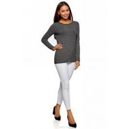 Блузка женская oodji Collection, цвет: черный. 24201026/17482/2930G. Размер XL (50)