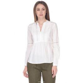 Блузка женская Baon, цвет: белый. B178064_White. Размер XXL (52)