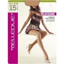 Колготки женские L'Elledue Club 15, цвет: Moka (коричневый). Размер 4