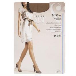 Колготки Sisi Miss 15. Daino (темно-коричневый). Размер 5-XL