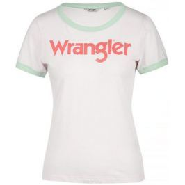 Футболка женская Wrangler, цвет: белый, мятный. W716SEVLF. Размер XS (40)