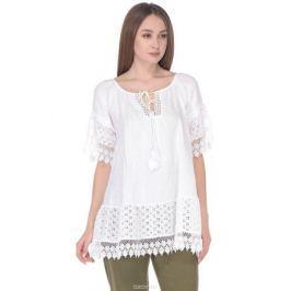 Блузка женская Baon, цвет: белый. B178046_White. Размер XL (50)